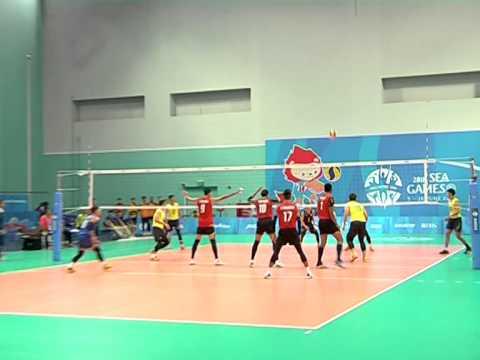 2558-06-12 HL วอลเลย์บอลชายซีเกมส์ ไทย ชนะ มาเลเซีย
