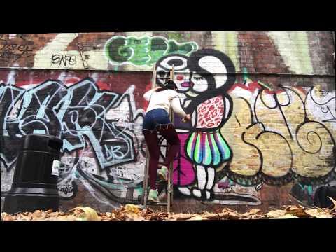 AMBIGENDER LOVERS - HACKNEY WICK LONDON STREET ART BY ANTHEA MISSY