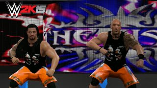 The Rock & Roman Reigns as The Usos - WWE 2K15 PC