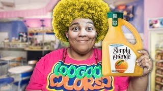 WHY IS MY MOM HAIR YELLOW? Learn Colorful Fruit Juice with Goo Goo Gaga