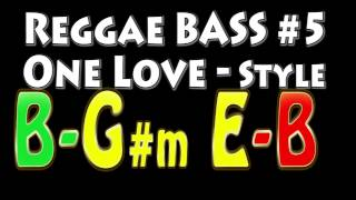 Reggae Backing Track for Bass #5 One Love Style