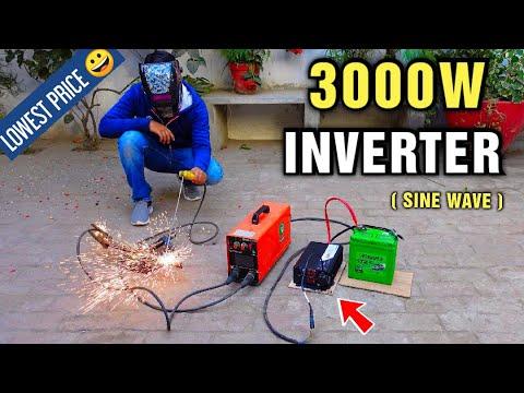 3000 Watt Pure Sine Wave Inverter hook up to Car battery - 12v DC to 220v AC Converter  CNSWIPOWER