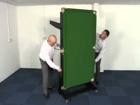 BCE FS Range Of Snooker Pool Tables With Rolling Folding Legs - Fold out pool table