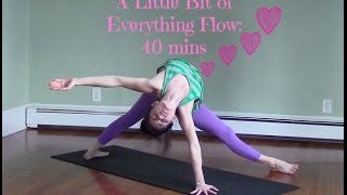 40 Minute Yoga Challenging Vinyasa Yoga Class - A Little Bit of Everything Flow