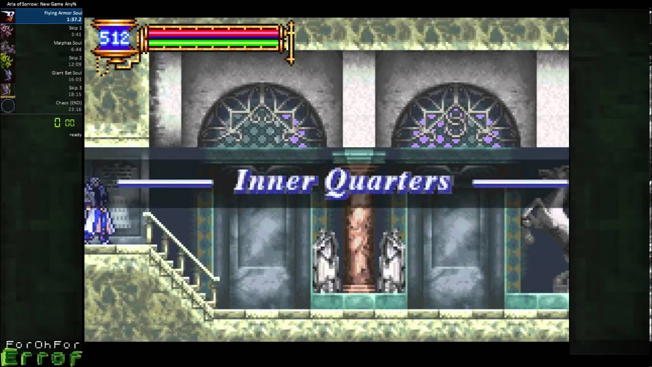 Aria of Sorrow - Ghost Room Glitch Breakable Walls Aria Of Sorrow Map on