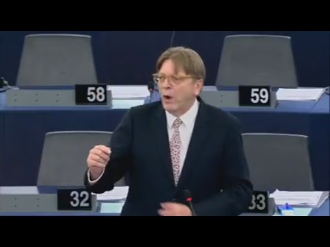 Guy Verhofstadt Poland threat - Article 7  - Korwin Mikke gives awesome response - 15.11.2017)