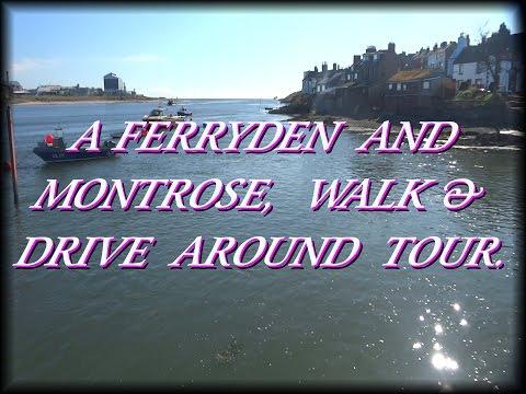 Walking & driving around parts of Ferryden, Montrose & Hillside. Angus in Scotland.