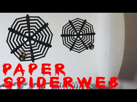 DIY Halloween Paper Spider Web 🎃 PERFECT for Beginners 🎃