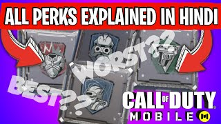 [HINDI] HOW TO SELECT PERKS? EXPLAINED CALL OF DUTY MOBILE COD MOBILE PERKS EXPLAIN IN DETAIL
