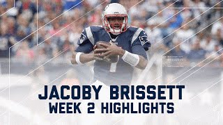 Every Jacoby Brissett Throw & Run | Dolphins vs. Patriots | NFL Week 2 Player Highlights