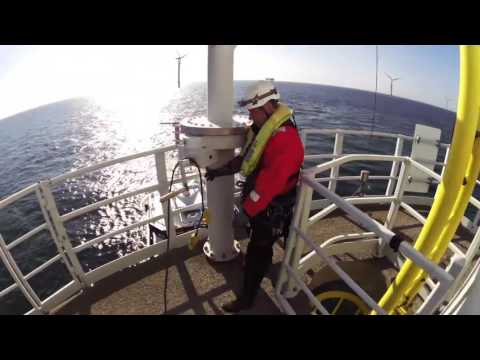 A work day offshore at Horns Rev 2 Offshore Wind Farm