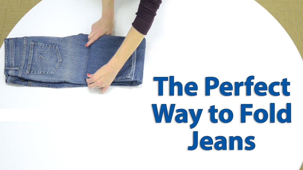 Fold your jeans in seconds with this 1 easy tip closet for Best way to pack shirts