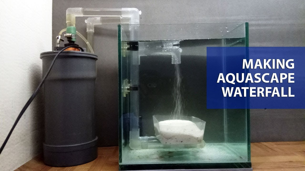 How to Make Aquascape Waterfall using DIY Canister Filter ...