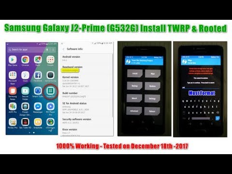Samsung Galaxy J2 Prime (G532G) Install TWRP Recovery & Rooted 1000%  Working [18-12-2017]
