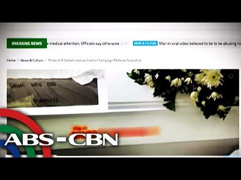 VIRAL: Kabaong na may pangalan ng alkalde, binatikos