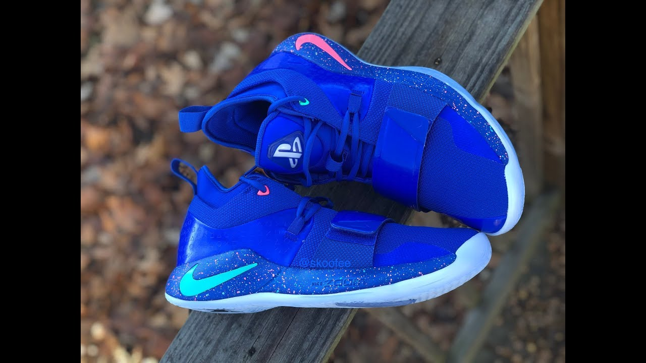 wholesale dealer b6663 2b54a NIKE Paul George PG2.5 x PlayStation Multi Blue | From STOCK X | Unboxing &  Review 2019