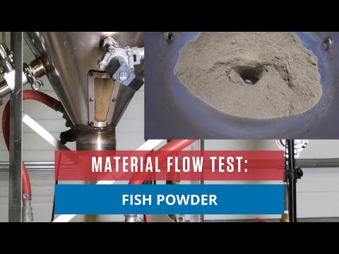 FISH MEAL POWDER | AirSweep Material Flow Test | Bin Aeration System