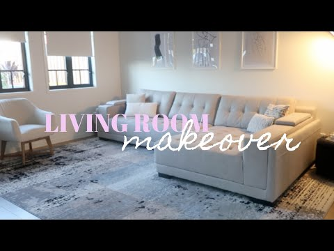LIVING ROOM TRANSFORMATION!  Before + After