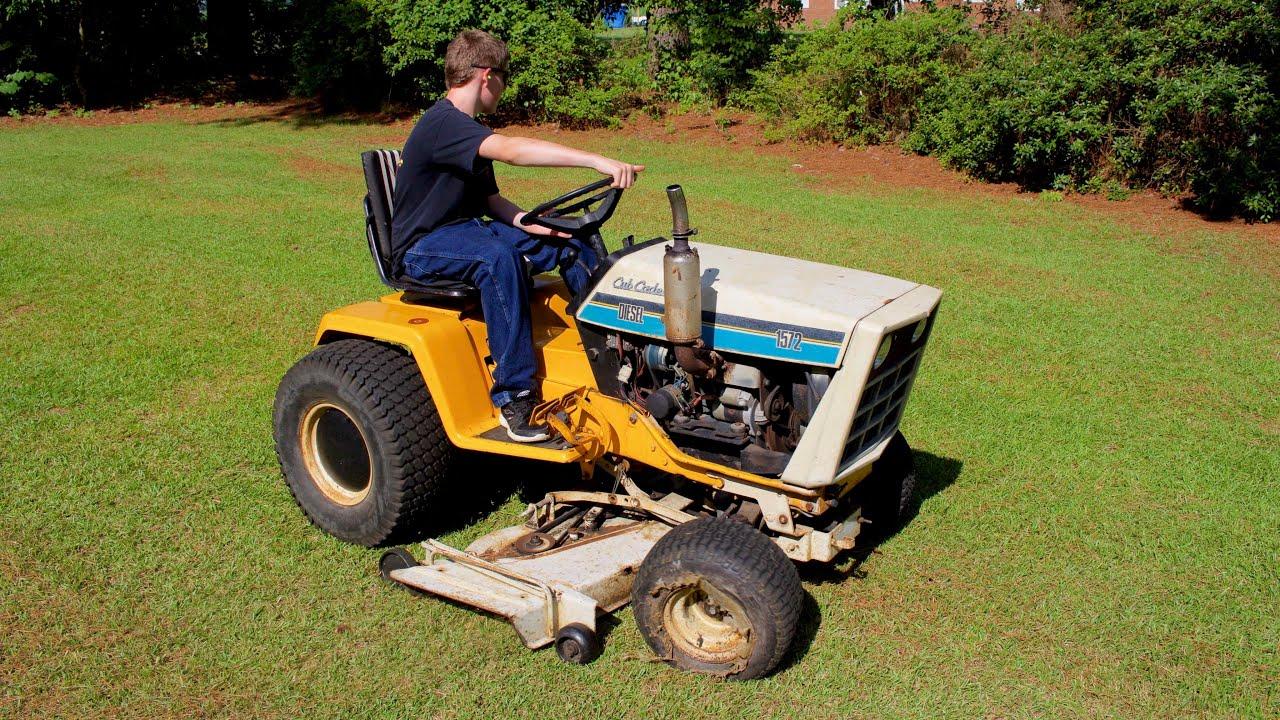 Cub Cadet 1572 Diesel Super Garden Tractor Startup & Run