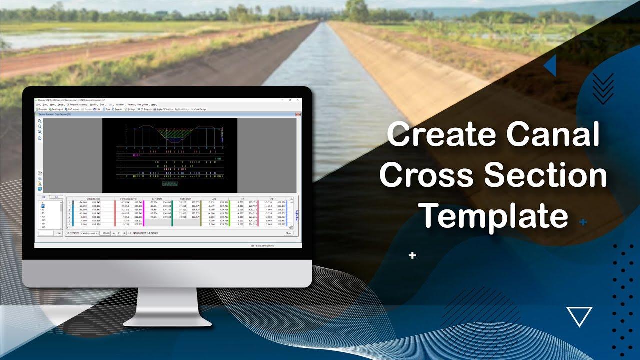 CS Software Help: Create Canal Cross Section Template