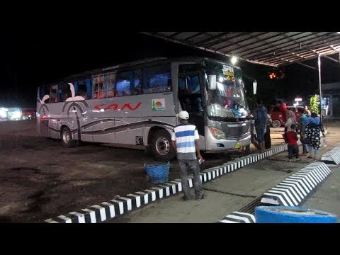 BUS SAN BISNIS AC MALAM RAMADAN 2017 TRIP Muaro Sijunjung Sumbar - Stasiun Lubuk Linggau Sumsel