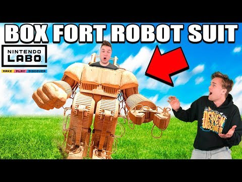 BOX FORT ROBOT SUIT!!  Nintendo LABO Box Fort & Gameplay