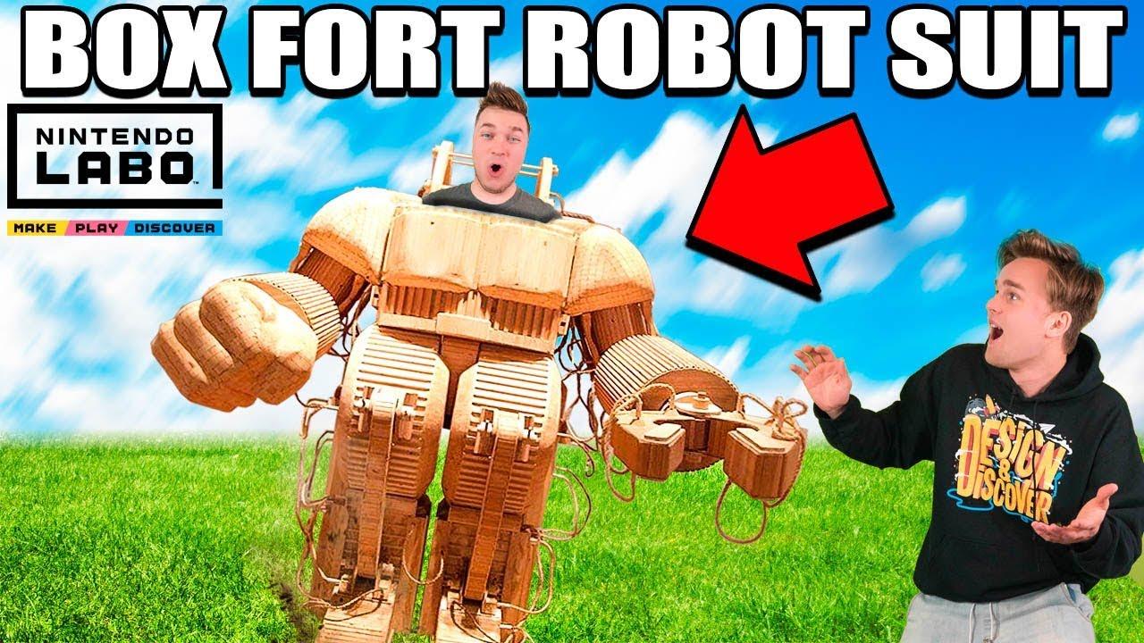 BOX FORT ROBOT SUIT!! 📦🤖 Nintendo LABO Box Fort \u0026 Gameplay