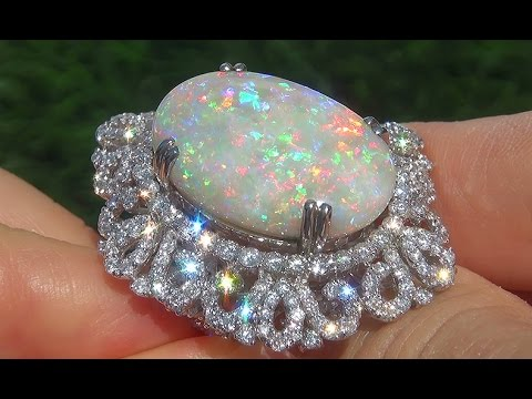 Gia Certified Coober Pedy Mined Natural Australian Opal