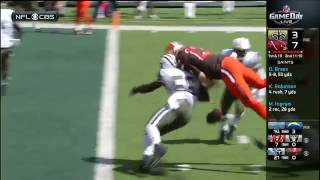 Josh McCown gets spun like a helicopter
