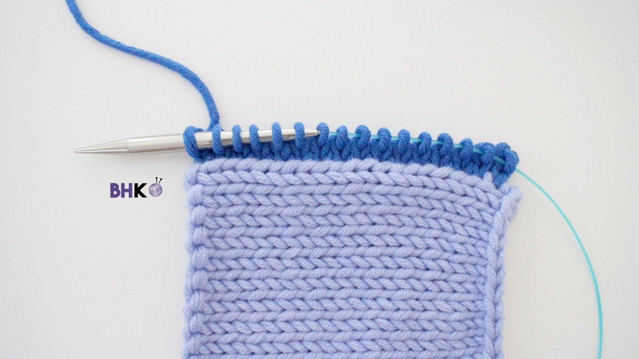 27c59de39 How to Pick Up and Knit on Stockinette Stitch for Beginners - YouTube