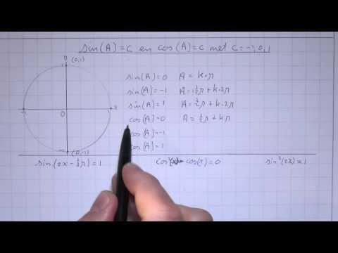 VWO5wisB_11_H7_6 Sin(A)=C en cos(A)=C met C = -1 0 1
