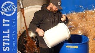 Making a BIG Baтch Of Rum : Blackstrap Molasses Wash & Dunder Pits