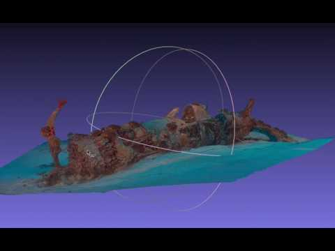 Underwater Photogrammetry Model of WWII F4U Corsair