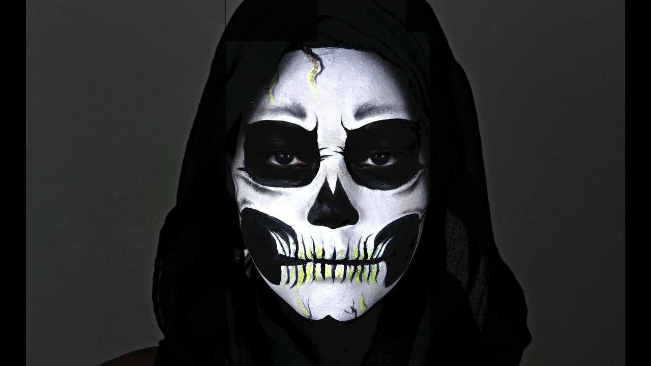 Skeleton Makeup Tutorial - YouTube