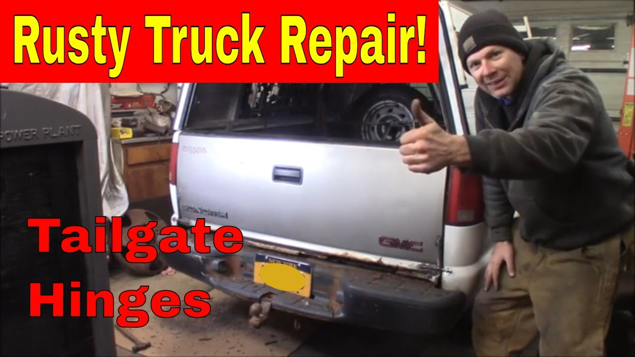 Rusty Chevy S10 Tailgate Hinges Youtube