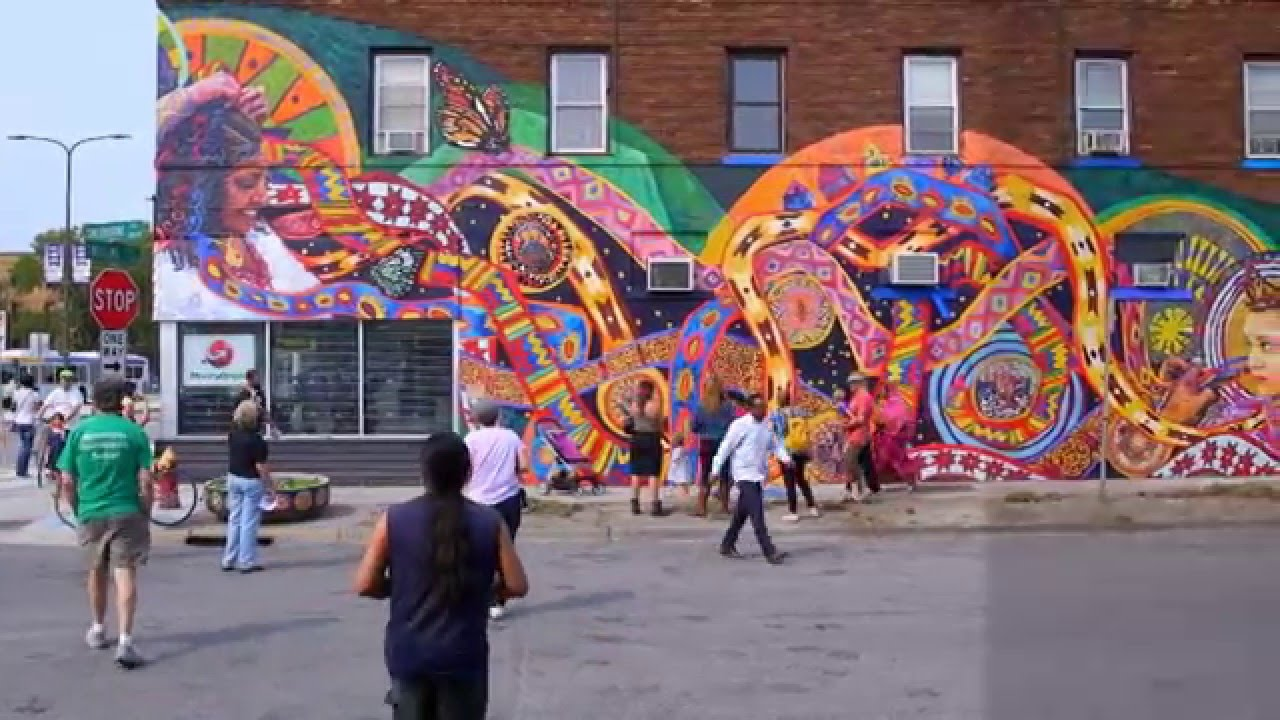 2015 16 livebig minnesota murals mirror community youtube for Community mural