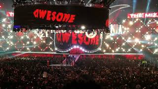 Wrestlemania 34 Seth Rollins & The Miz & Finn Balor Entrance