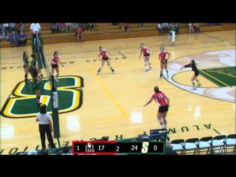 Siena Volleyball Goes the Distance with Rival Marist College