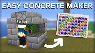 Minecraft Easiest Concrete Maĸer - 10,000 Concrete Per Hour!