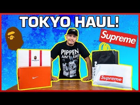 SUPREME BAPE NIKE | Tokyo, Japan HAUL Unboxing