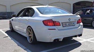 Modified BMW M5 F10 with Straight Pipes! - Amazing Twin Turbo V8 Sounds!