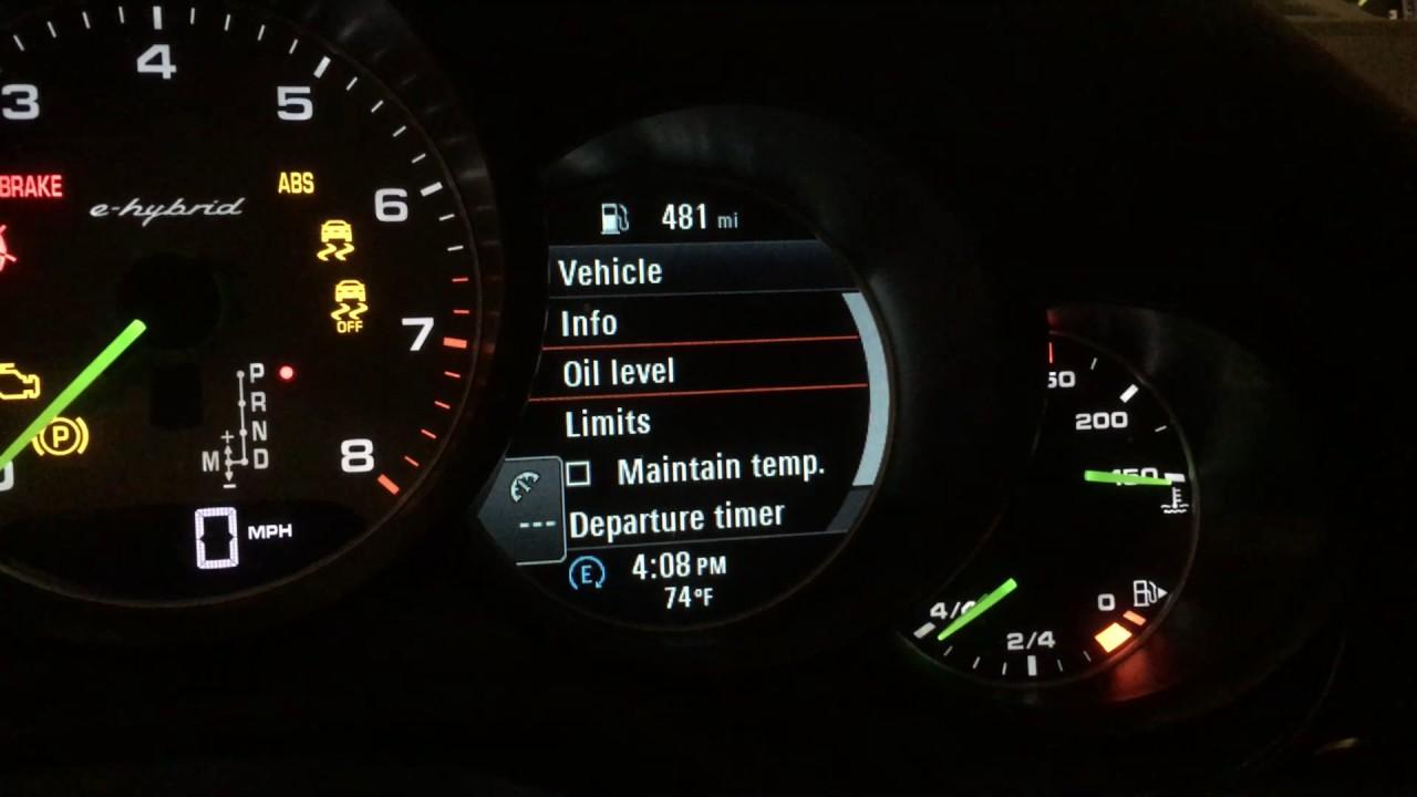 2014 Porsche Panamera S E Hybrid Check Oil Level Youtube