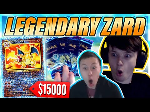 RARE $15,000+ Charizard Pulled?! - Legendary Collection Booster Packs