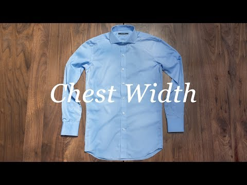 How To Measure Your Shirt: Chest Width