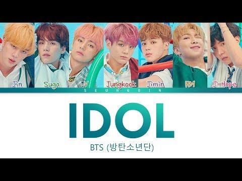 BTS (방탄소년단) - 'IDOL' Lyrics (Color Coded Lyrics Han/Eng/Rom)