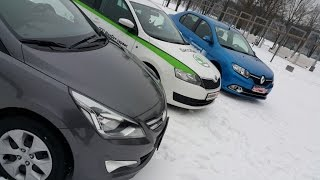 Skoda RAPID, Renault LOGAN, Hyundai ACCENT\SOLARIS: большой тест