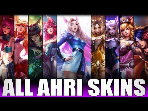 All Ahri Skins Spotlight 2020 - Including KDA ALL OUT Ahri