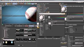 BaseBall Tutorial Cinema 4D (Видео урок 1 часть)Physical Renderer