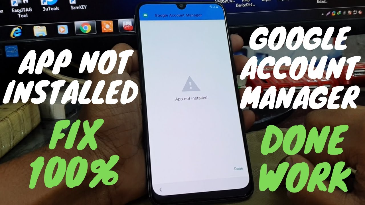 App not installed, Google Account Manager | All samsung frp Bypass Done 2020 easy method