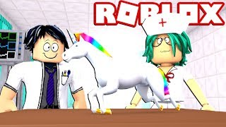 I HAVE MY OWN UNICORN! MY new vet in ROBLOX 😱